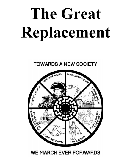 Resultado de imagen para the great replacement manifesto